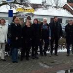 Die Grünen am Überweg Winterswijker Straße. Personen v. l. Susanne Rickers; Gertrud Welper; Helga Gliem (Bor); Hedwig Tarner; Josef Schleif; Oliver Keymis; Helmut Fehr